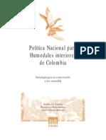 Politica Nacional Humedales Colombia