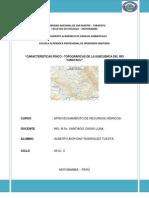 Analisis Físico-topografico de la Subcuenca Yanayacu-Moyobamba-Perú