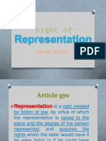 Right of Representation (Succession)