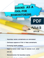 Biosensor in Biomonitoring