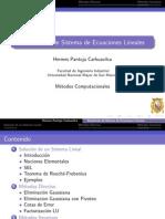 5 Sistemas de Ecuaciones Lineales SEL