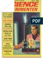 Powerful Tesla Coil - Science Experimenter Fall 1963