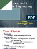 Vectors Used in Genetic Engineering