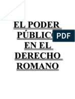 El Poder público en el Derecho Romano monografía