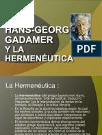 Gadamer y la hermenéutica