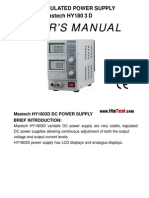 Mastech HY1803D DC Regulated Power Supply Users Manual