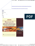 Research Methodology~Methods and Techniques by C.R