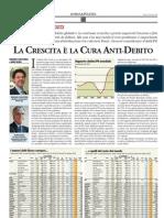 La crescita è la cura anti-debito (Borsa & Finanza, 20/10/2012)