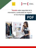 Estudio sobre seguridad de la información y continuidad de negocio en las empresas españolas