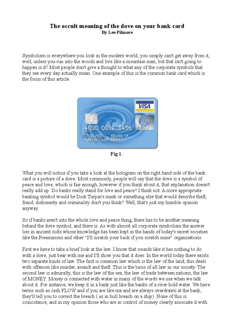 The Occult Meaning Of The Dove On Your Bank Card Goddess Isis