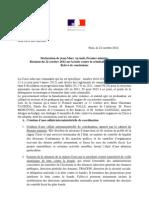 Relevé de conclusions - Réunion sur la lutte contre la criminalité en Corse - Relevé de conclusions