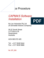 CAPM4 or 5 Software Installation