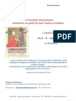 Dossier presse // Frivolités Parisiennes