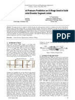 FE Analysis of Contact Pressure Prediction on O-Rings Used in Solid Rocket Booster Segment Joints