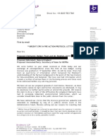 Badger Trust letter before claim, to Natural England
