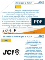 JCEF 60 ans / Actions marquantes