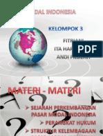 PPT sejarah perkembangan pasar modal di indonesia