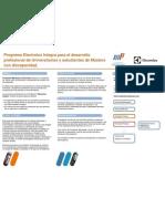 Programa Electrolux Integra para el desarrollo profesional de universitarias/os con discapacidad (noviembre 2012)
