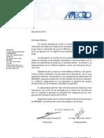 Carta de invitación AMEQRO