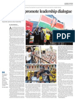Campaign to Promote Leadership Dialogue - John Gicharu (as posted in the Daily Nation)