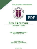 [BSL] CASE DOCTRINES IN CIVIL PROCEDURE (BRONDIAL)