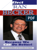 Fran Becker for U.S. Congress NY-4 Palm Card 2012