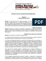 Proyecto Ley Universidades