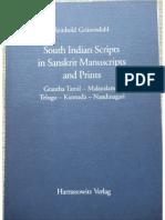 Some Indian Scripts in Sanskrit Manuscripts and Prints - Reinnhold Grunendahl