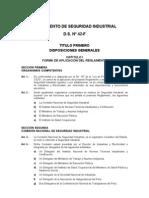 D.S. N° 42-F - Reglamento de Seguridad Industrial