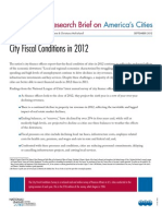 City Fiscal Conditions in 2012