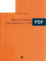 West 1973 Textual Criticism AD