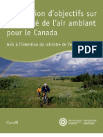 Élaboration d'objectifs sur la qualité de l'air ambient pour le Canada