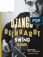 Expo Django Reinhardt - dossier de presse