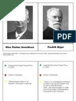 Nobel Peace Prize Winners 1908-1917