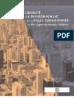 La qualité de l'environnement dans les villes canadiennes