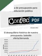 Propuesta de Presupuesto Confech