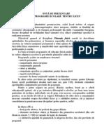 Cerintele Programei Ptr. LICEU