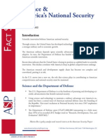 Fact Sheet -  Science and America's National Security