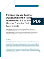 1.2 Transparency as a Basis for Engaging Citizens in Public Procurement