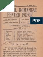 Neamul Romanesc Pentru Popor Nr.4-24 Ianuarie 1916
