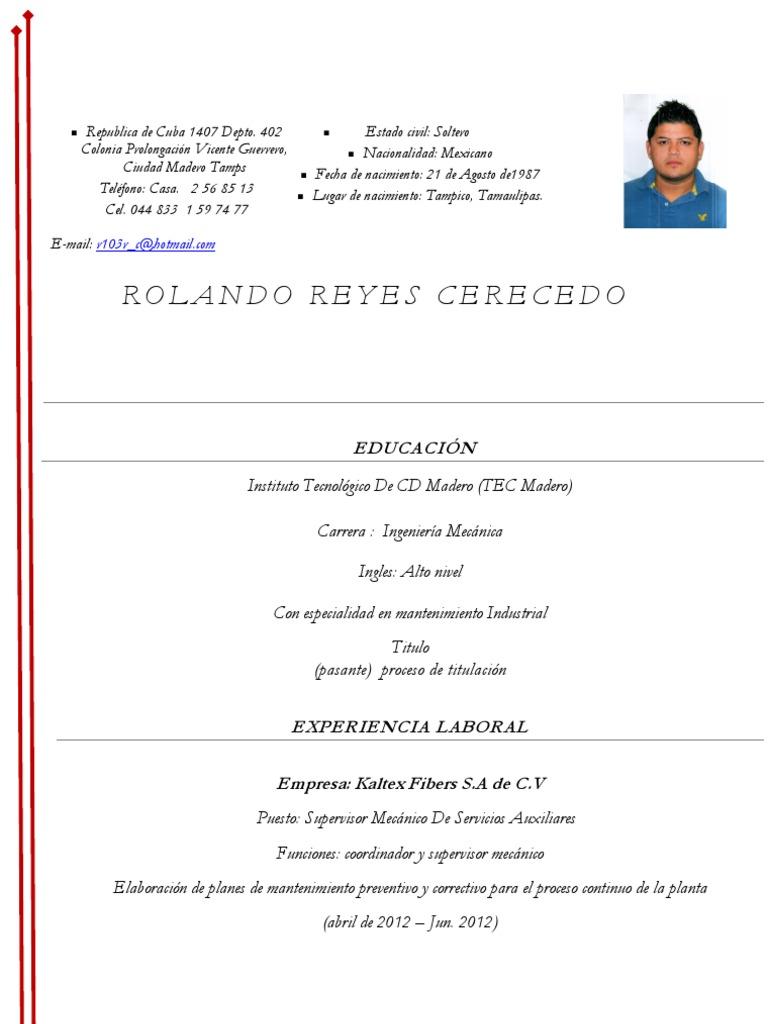 Dorable Objetivo De Carrera De Curriculum De Ingeniería Mecánica ...