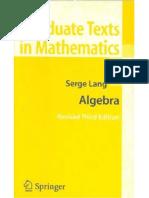 Algebra,Serge Lang