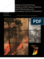 Synthesis of Post-Fire Road Treatments for BAER Teams
