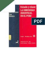 ALBERTI, SANTISTEVAN, PASARA - Estado y clase. La comunidad industrial en el Perú