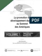 La promotion du développement durables au Sommet de Amériques