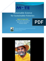 Sustainable Science for Sustainable Fisheries