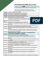 Calendario Electoral de La Fgrm-2012