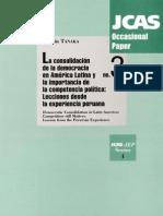 TANAKA Martín - La consolidación de la democracia en América Latina y la importancia de la competencia política, lecciones desde la experiencia peruana