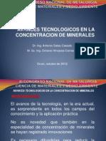 Avances en concentración de minerales