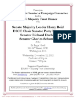 DSCC Majority Trust Dinner with Harry Reid, Patty Murray, Dick Durbin and Charles Schumer